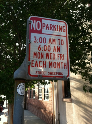 [No Parking: Mon Wed Fri, Each Month]
